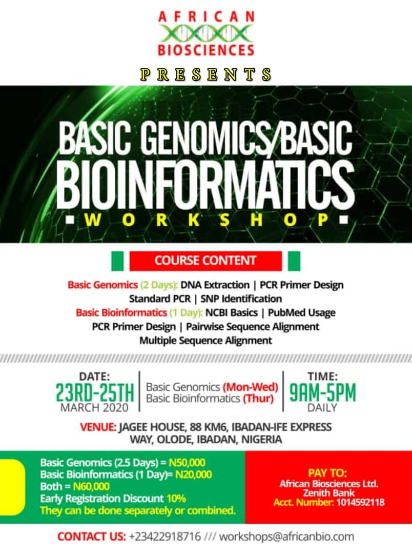 African Biosciences Workshop, March 2020